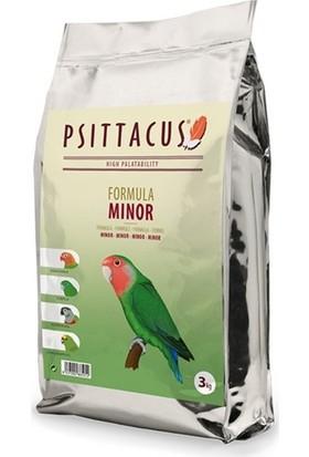 Psittacus Minor Formula Pellet Haline Getirilmiş Özel Paraket Yemi 3 kg