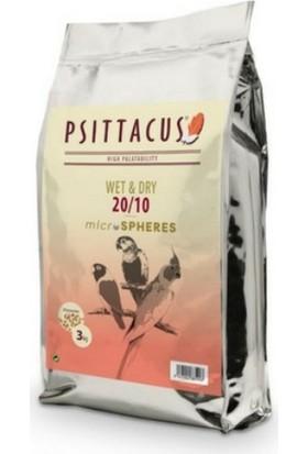 Psittacus Microspheres 20/10 Paraketler İçin Islak ve Kuru Yem 3 kg