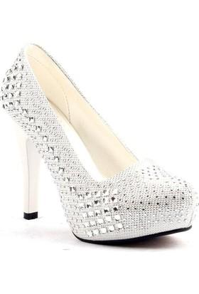 Lady Rachel Platform 12 Cm Topuk Abiye Gelin Kadın Ayakkabı
