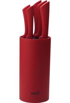 Neva N2317 Sweet 6 Lı Bıçak Seti-Kırmızı