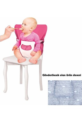 Sevi Bebe Kumaş Mama Sandalyesi Kot Desenli