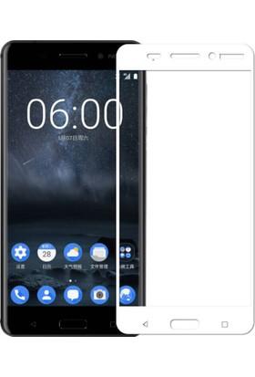 Elx Nokia 5 3D Kavisleride Kaplayan Renkli Temper Cam