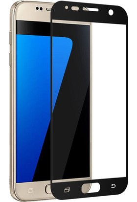 Elx Samsung Galaxy C5 3D Kavisleride Kaplayan Renkli Temper Cam