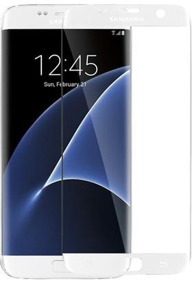 Elx Samsung Galaxy S7 Edge 3D Kavisleride Kaplayan Renkli Temper Cam