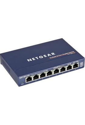 NetGear Gs108Ge 8 Portlu 10/100/1000 Gigabit Tak Çalıştır Switch