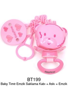 Baby Time Emzik Saklama Kabı / Askı / Emzik - Pembe