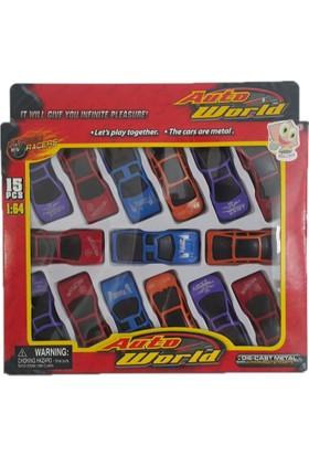 Bir-Can Auto World 15 Parça Oyuncak Araba 1:16
