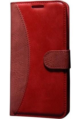 Case Man Sony Xperia Z4 Kartvizit Ve Standlı Premium Kapaklı Cüzdan Kılıf + Temizlik Kiti + Kalem
