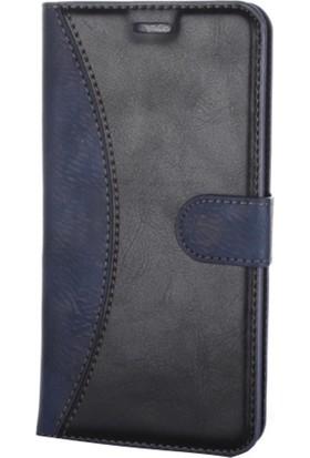 Case Man Avea İntouch 4 Kartvizit Ve Standlı Premium Kapaklı Cüzdan Kılıf + Cam + Temizlik Kiti