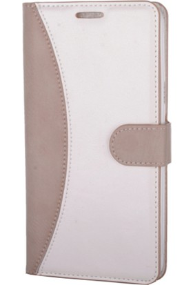 Case Man Vestel Via V3 5570 Kartvizit Ve Standlı Premium Kapaklı Cüzdan Kılıf + Temizlik Kiti