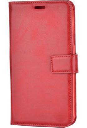 Case Man Lenovo K5 Note Kartvizit Ve Standlı Algos Kapaklı Cüzdan Kılıf + Cam + Cep Bakım Kiti