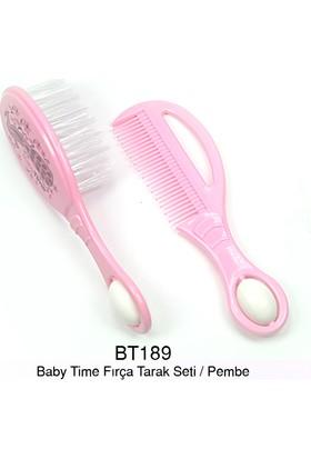 Baby Time Tarak Fırça Seti - Pembe