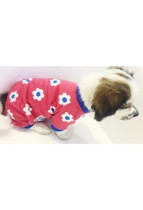 Dogi & Dog Flowers Köpek Tulumu-Köpek Kiyafeti-Köpek Elbisesi-Kedi Kiyafeti