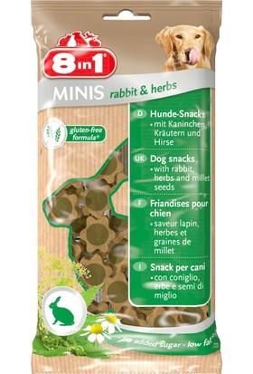 8in1 Minis Rabbit-Herbs Köpek Ödülü 100 gr