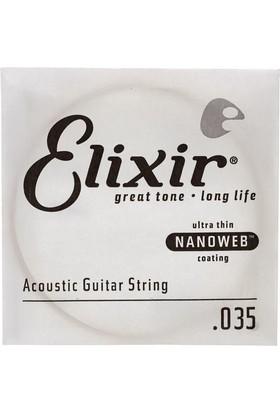 Elixir 035 Tek Akustik Bronze Tel (13135)