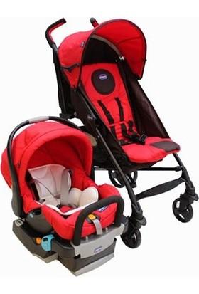 Chicco Lite Way Plus Bazalı Bebek Arabası Kırmızı