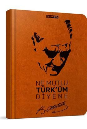 Gıpta Atatürk Spiralli Sert Kap Defter 13 21 120 Yaprak Çiz 2599
