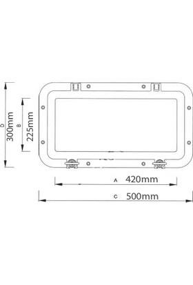 Sealux Lumboz Dikdörtgen 300X500 Mm İçten Montaj