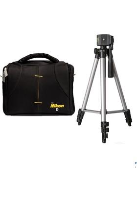 Haskan Nikon D5500 Fotoğraf Makinesi İçin 145cm Tripod + Set Çanta
