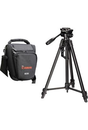 Haskan Canon 750D Fotoğraf Makinesi İçin 135cm Tripod + Üçgen Çanta