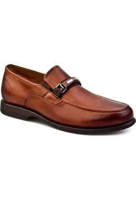 Cabani Kauçuk Taban Tokalı Günlük Erkek Ayakkabı Taba Floter Deri