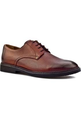 Cabani Bağcıklı Günlük Erkek Ayakkabı Taba Floter Deri