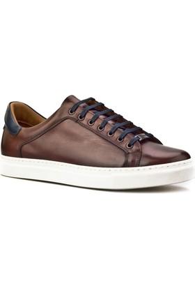 Cabani Bağcıklı Sneaker Erkek Ayakkabı Kahverengi Deri