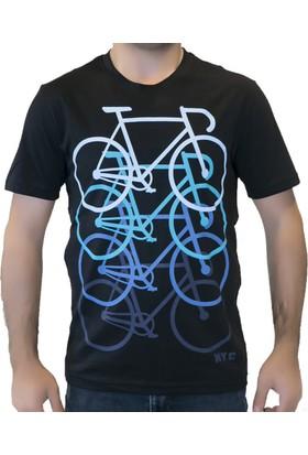 ProRide Bisiklet Temalı Günlük T-shirt - Siyah