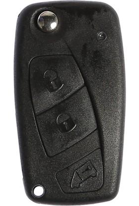 Fiat Sustalı Anahtar Kabı 3 Butonlu (Pil Yuvası Arkada)