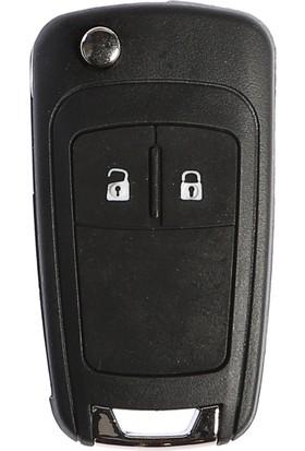 Opel Astra J Sustalı Anahtar Kabı 2 Butonlu (Yeni Model)