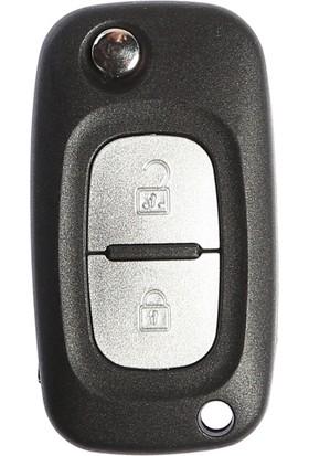 Renault Clio3 Sustalı Anahtar Kabı 2 Butonlu