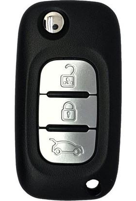 Renault Fluence Sustalı Anahtar Kabı 3 Butonlu