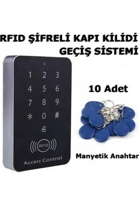 Frk Store Rfıd Şifreli Elektronik Kapı Kilidi Kartlı Göstergeç Kontrol Sistemi + 10 Adet Manyetik Anahtarlık
