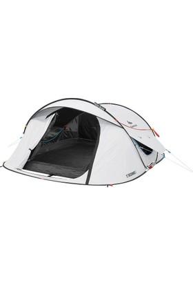 Quechua Havaya Atılınca Kurulan Kamp Çadırı - 3 Kişilik - Beyaz Quechua
