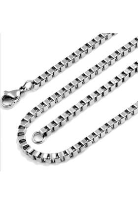 Chavin Gri 3 mm Uzun Erkek Çelik Zincir dp54
