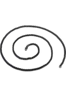 Chavin 4 mm. 75 cm. Burgu Siyah Ipc Kap. Çelik Erkek Zincir dp59