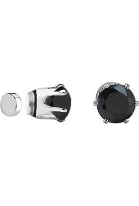 Chavin Unisex Mıknatıslı 6 Tırnaklı Siyah Taş 6 mm Küpe ce85-6