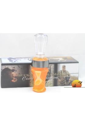Buck Gardner Swirl Orange Pearl Clear Ördek Çağrı Düdüğü