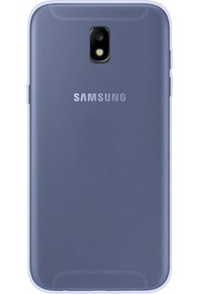 Teleplus Samsung Galaxy J7 Pro Yumuşak Silikon Kılıf Mavi + Cam Ekran Koruyucu