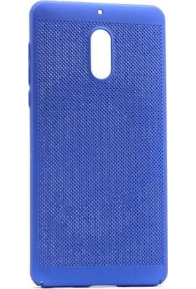 Teleplus Nokia 6 Delikli Kapak Kılıf Mavi