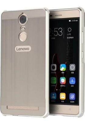 Teleplus Lenovo K6 Note Aynalı Metal Kapak Kılıf Gümüş