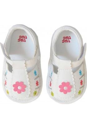 Tuc Tuc Çiçekli Sandalet Sunny Days Beyaz Çiçekli