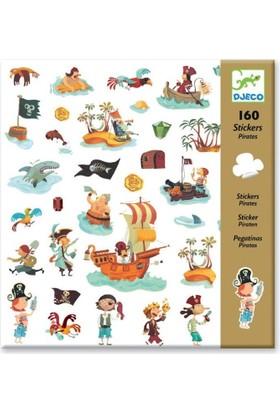 Djeco Sticker 160 parça Sevimli Korsan Figürlü