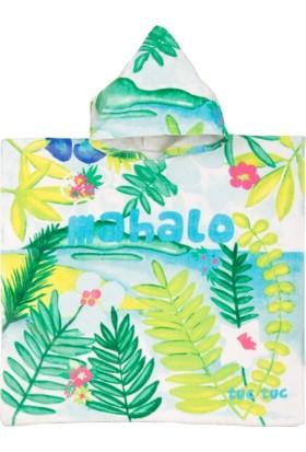 Tuc Tuc Kız Çocuk Havlu Panço Desenli Isla Bonita