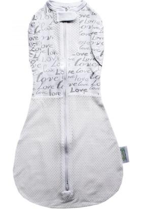 Woombie Yazlık Bebek Kundağı Convertible Beyaz - Gri 3-6 Ay