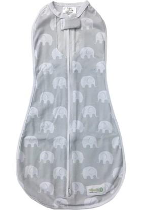 Woombie Air Yazlık Bebek Kundağı Misty Jungle Gri Desenli