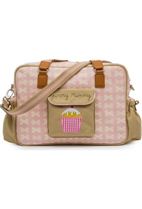 Pink Lining Anne Çantası Yummy Mummy Pink Cream Bows Açık Pembe