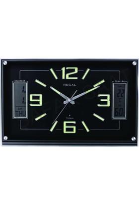 Regal 0105-Bblz Isı Ve Nem Ölçer Takvimli Fosforlu Duvar Saati