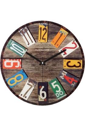 Clockmaker By Cadran Retro Vintage 30X30 Mdf Duvar Saati Cmm90