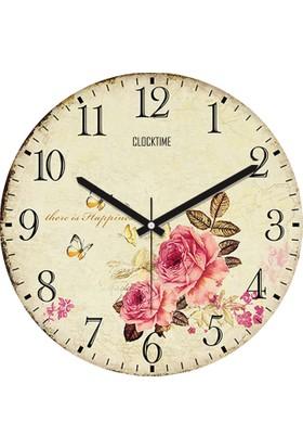Clocktime By Cadran 30x30 Cm MDF Duvar Saati CTM61